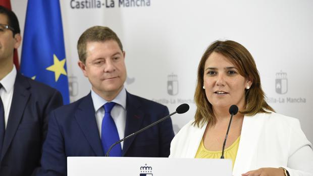 Emiliano García-Page y Agustina García