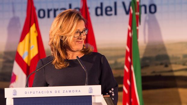 La presidenta de la Diputación de Zamora y candidata a la alcaldía de Zamora por el PP, Mayte Martín