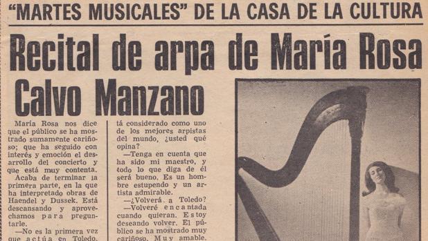 Recorte de un periódico toledano, hace más de medio siglo