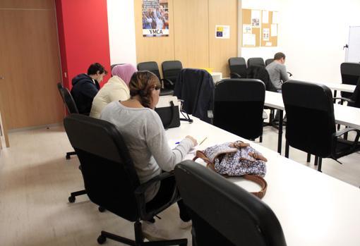 Uno de los cursos de formación para los participantes en el programa