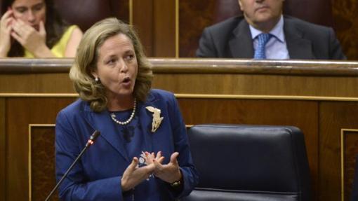 La ministra de Economía, Nadia Calviño, el pasado septiembre en el Congreso
