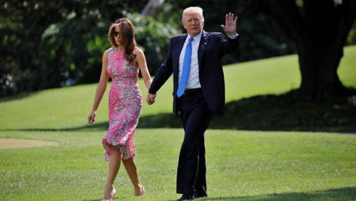 Donald Trump, junto a su mujer, Melania, en 2017