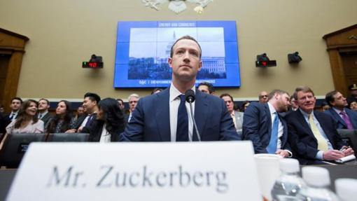 Mark Zuckerberg testifica en el Capitolio de Estados Unidos