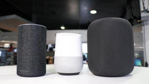 Amazon Echo, Google Home y el Homepod de Apple