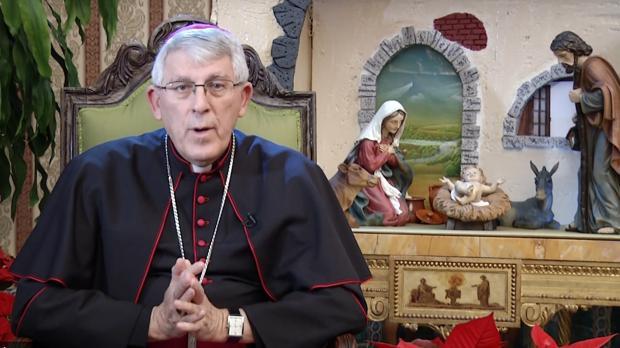 El arzobispo durante su homilía de Navidad