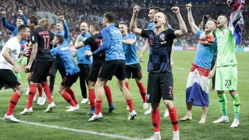 La selección corata celebrando su pase a la final del Mundial de Rusia