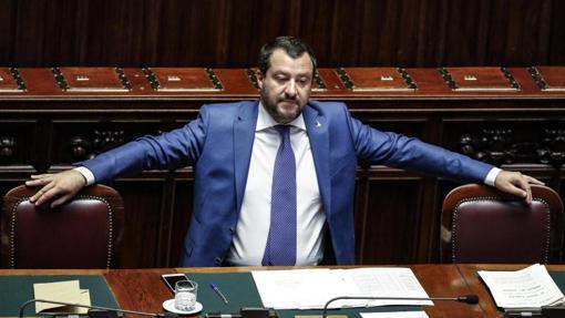 Matteo Salvini en el Congreso de los Diputados de Roma