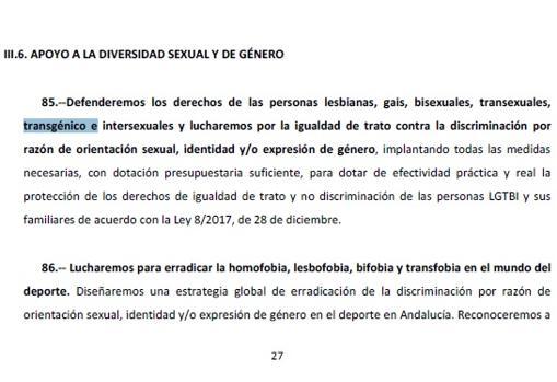 Extracto del texto del acuerdo en el que se produce el equívoco