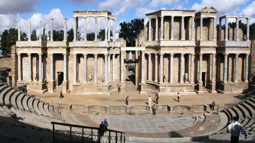Anfiteatro de Mérida en donde se celebra el Viacrucis el Viernes Santo.