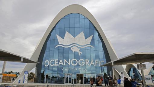 Fachada del Oceanogràfic de Valencia
