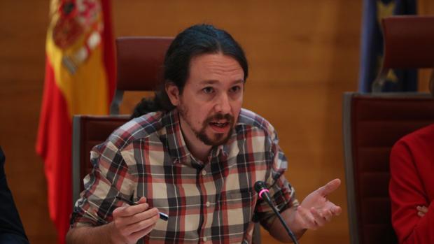 El secretario general de Podemos, Pablo Iglesias, en el Senado