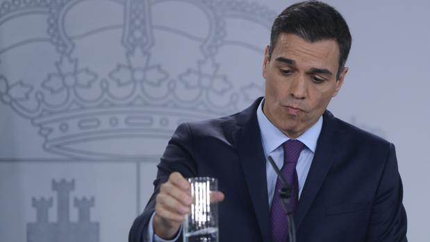Pedro Sánchez en su rueda de prensa del pasado viernes
