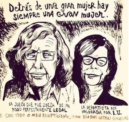 Cartel del ilustrador Víctor Aparicio Abundancia para «Madrid con Manuela»