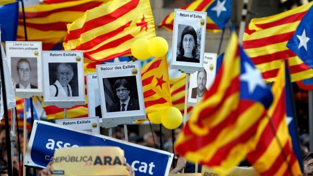 Fotografía de archivo una manifestación a favor del secesionismo catalán