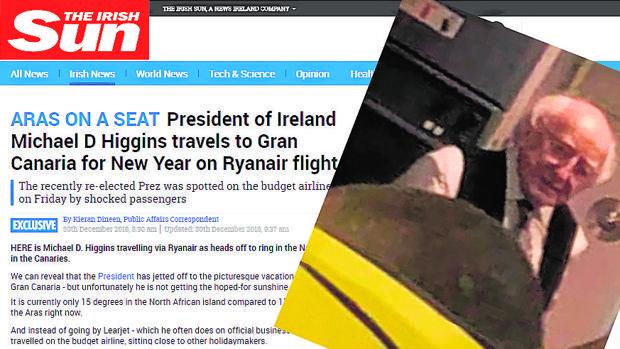 El presidente irlandés, de vacaciones en Canarias como Sánchez pero pagando su billete «low cost»
