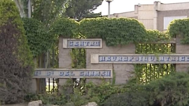 Vista exterior del centro psiquiátrico Nuerstra Señora del Carmen, en Garrapinillos (Zaragoza)