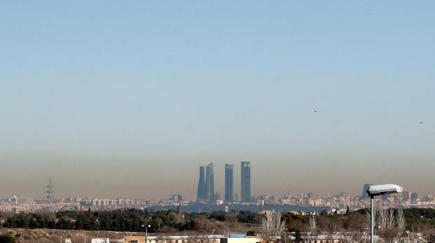 Boina de contaminación en Madrid, el 31 de diciembre