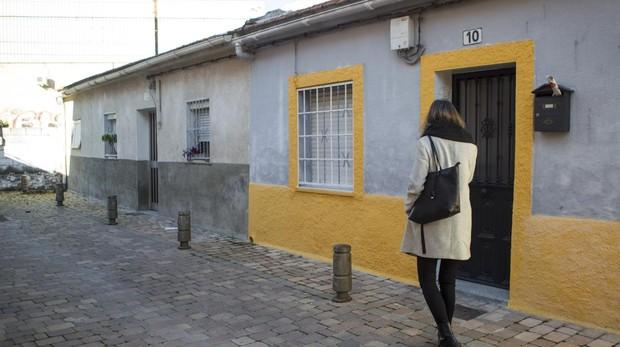 Casa del barrio de las Vírgenes, en Leganés, en la que vivía Emérito