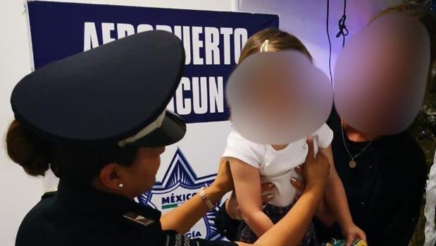 Imagen de la niña secuestrada cedida por la Policía Federal de México