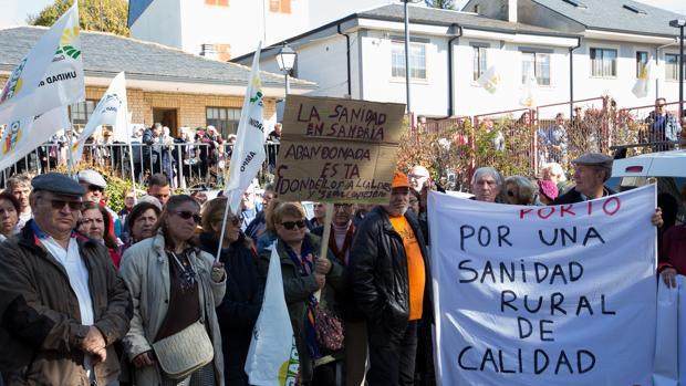 Manifestación para la mejora de la sanidad rural en Sanabria celebrada el pasado noviembre