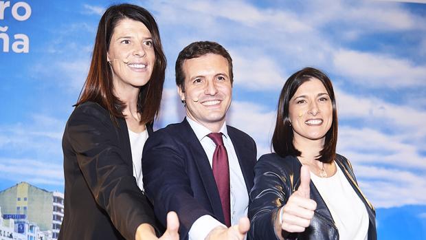 Pablo Casado presenta a las candidatos a la presidencia de Cantabria, Ruth Beitia, y a la Alcaldía de Santander, Gema Igual