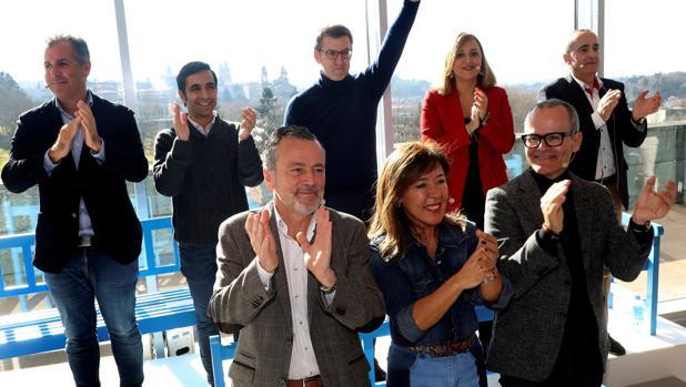 Feijóo junto a los candidatos del PP en las siete ciudades gallegas