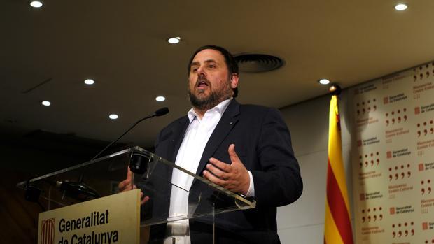 El exvicepresidente de la Generalitat, Oriol Junqueras, en una imagen de archivo