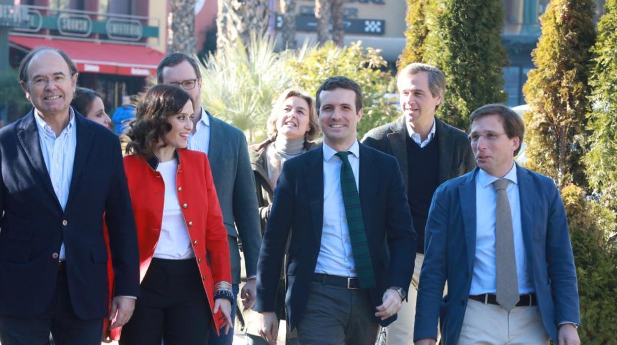 Los candidatos por Madrid prometen ser «palanca de cambio para llevar a Casado a Moncloa»
