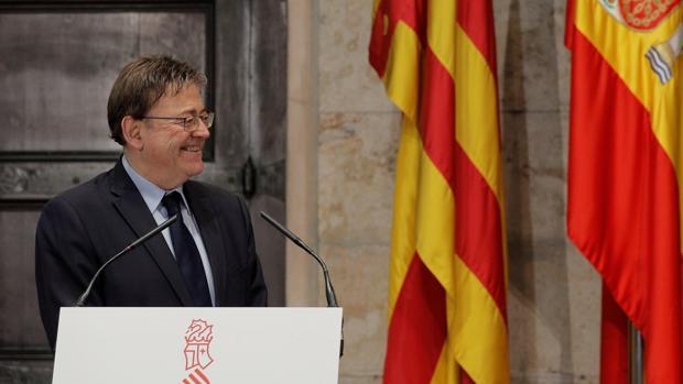 Ximo Puig, este lunes en el Palau de la Generalitat
