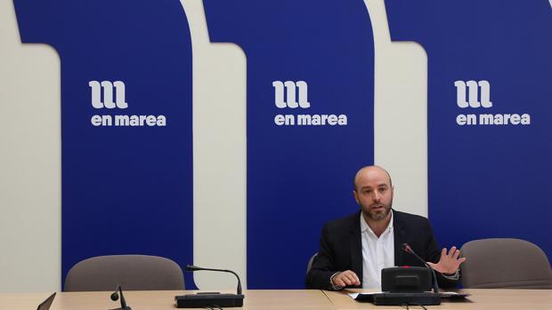 El líder de En Marea, Luís Villares, en rueda de prensa