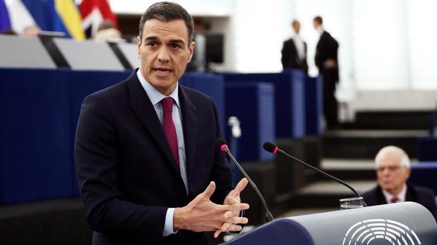 Pedro Sánchez interviene ante el Parlamento Europeo