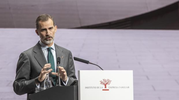 Imagen de Su Majestad el Rey tomada durante un acto en Valencia el pasado mes de octubre