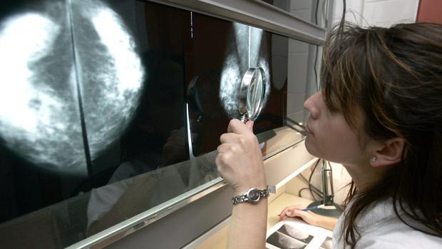 Una facultativa revisa el resultado de una mamografía