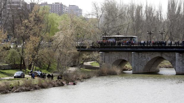 Río Pisuerga, en Valladolid