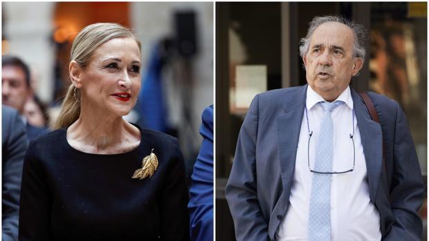 Cristina Cifuentes y el profesor Álvarez-Conde