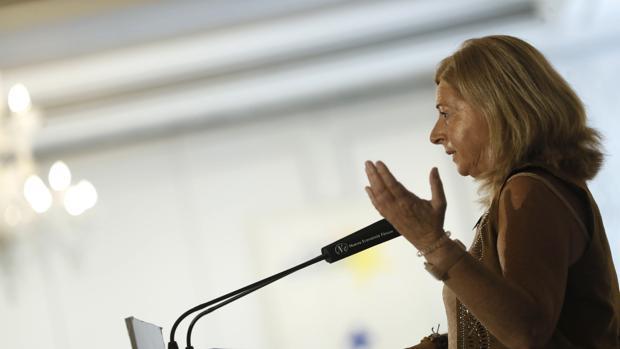 Consuelo Ordoñez, presidenta de Covite, en un acto celebrado en julio de 2018