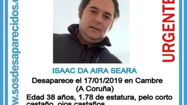Datos del desaparecido en La Coruña