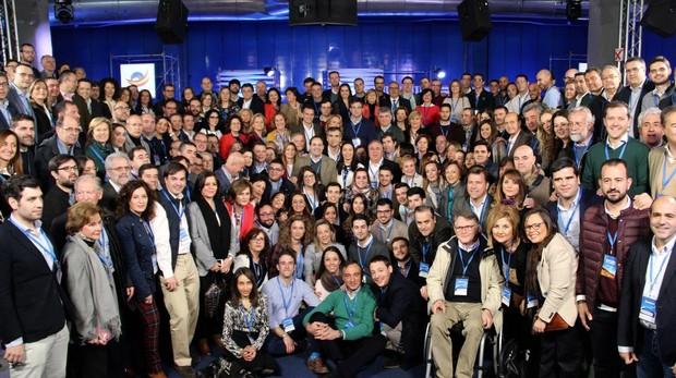 Delegación del PP en Castilla-La Mancha en la Convenión nacional del PP en Madrid