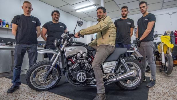 Una moto customizada para el cuarto de milla