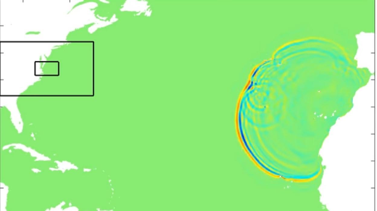 Vídeo: Así sería el recorrido de la ola asesina que llegaría a la Península desde Canarias