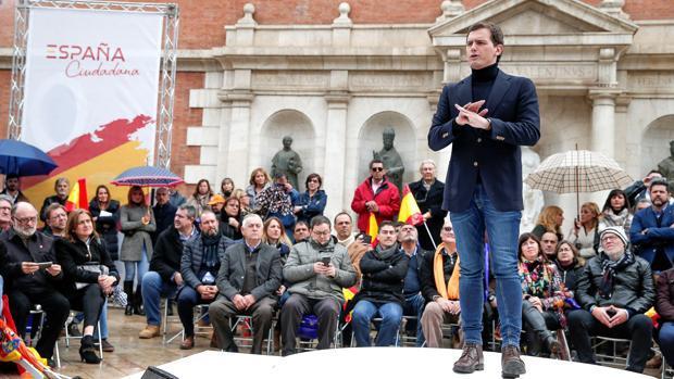 Albert Rivera, en el acto celebrado este domingo en Valencia