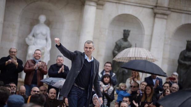 Toni Cantó, diputado de Ciudadanos, en el acto de este domingo en Valencia