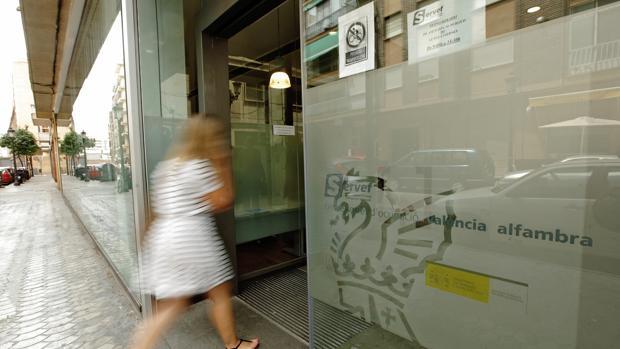 Imatge d'arxiu de l'oficina del Servef de València