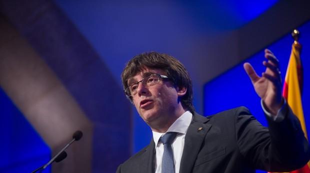 Puigdemont en el Parlamento de Cataluña