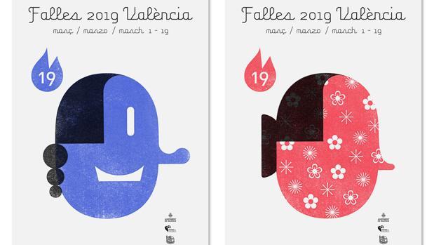 Imagen de los carteles oficiales de Fallas 2019 de Valencia