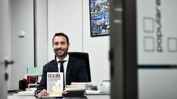 David Álvaro en su despacho de Génova 13