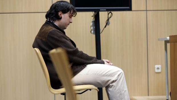 Imagen del condenado durante el juicio