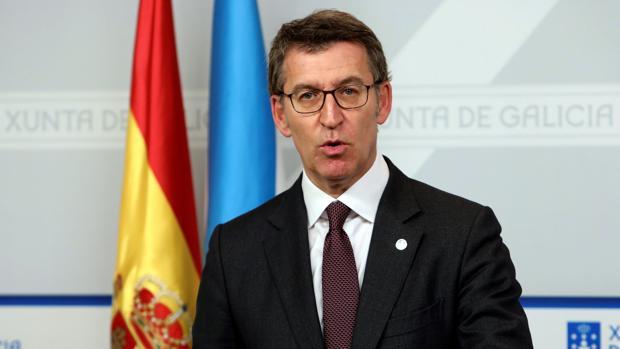 Alberto Núñez Feijóo, en la rueda de prensa posterior a la reunión del Consello de la Xunta