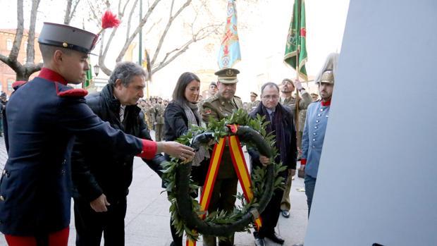 Arriado Solemne de la Bandera organizada por la Cuarta Subinspección General del Ejército y Comandancia Militar de Valladolid