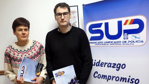 Sandra Castro y Roberto González, de SUP Galicia